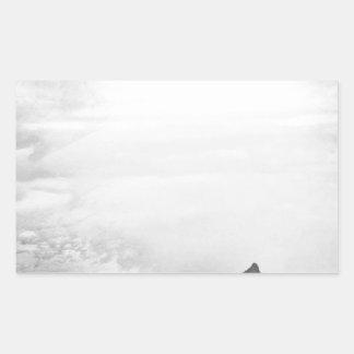 Southwestern Mountain Photograph Black White Stickers
