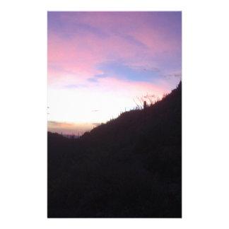 Southwestern Mountain sunset Personalized Stationery