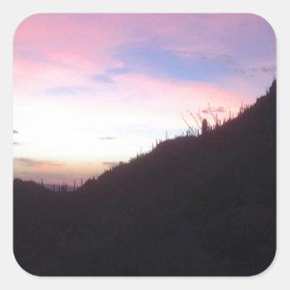 Southwestern Mountain sunset Square Sticker