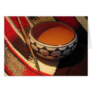 Southwestern Native American artefacts card