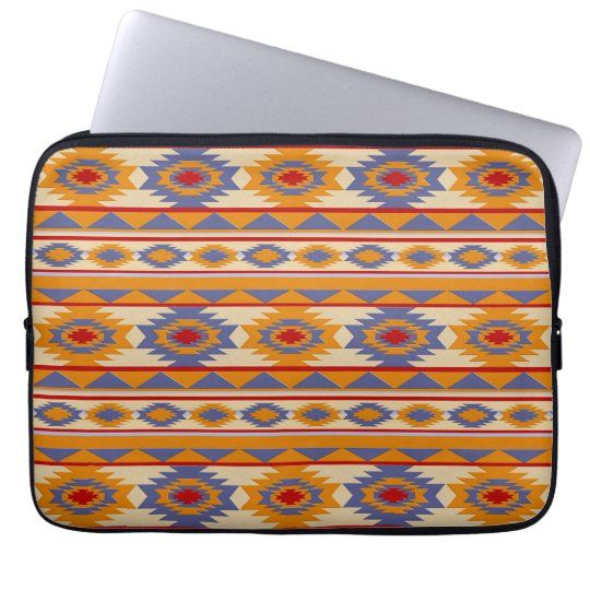 Southwestern navajo tribal pattern computer sleeve
