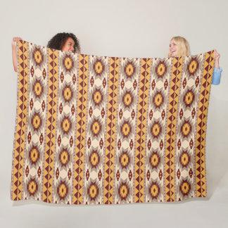 Southwestern navajo tribal pattern fleece blanket