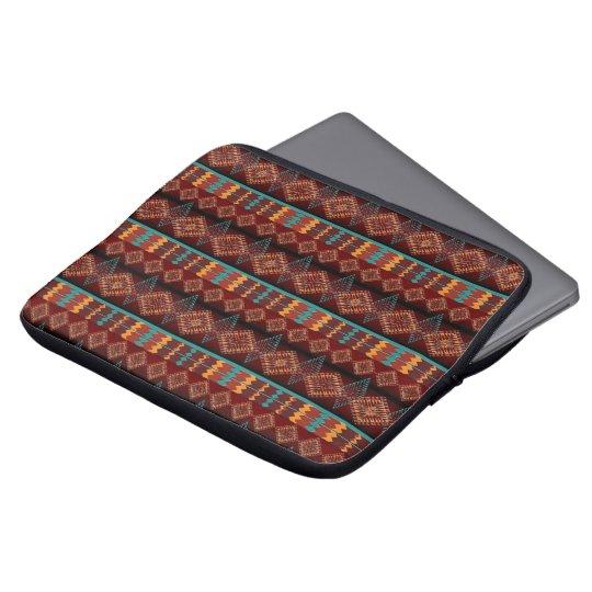 Southwestern navajo tribal pattern laptop computer sleeve