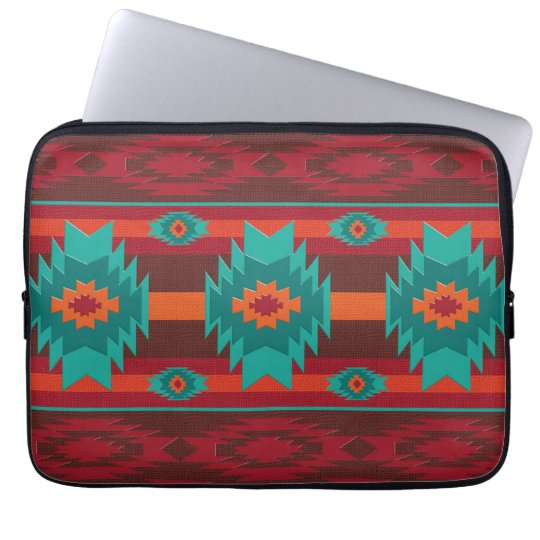 Southwestern navajo tribal pattern laptop computer sleeves