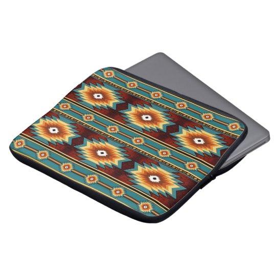 Southwestern navajo tribal pattern laptop sleeve