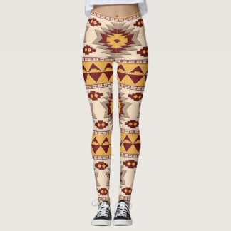 Southwestern navajo tribal pattern leggings