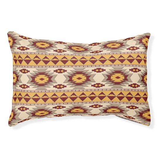Southwestern navajo tribal pattern pet bed