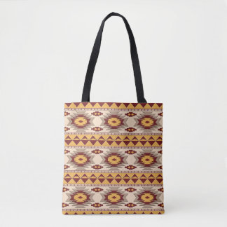 Southwestern navajo tribal pattern tote bag