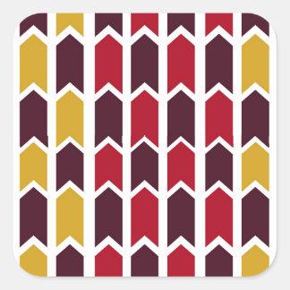 Southwestern Panel Fence Square Sticker