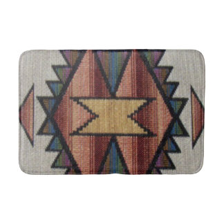 Southwestern pattern fun bath mat
