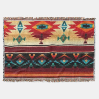 Southwestern pattern fun throw blanket