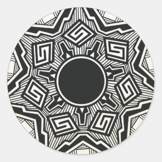 Southwestern Pueblo pottery design Round Sticker