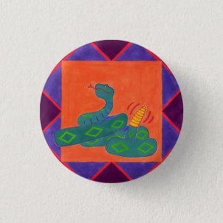 Southwestern Rattle-Snake 3 Cm Round Badge
