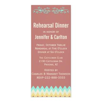 Southwestern Skinny Wedding Rehearsal Dinner 10 Cm X 24 Cm Invitation Card