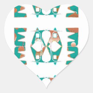 Southwestern Style Heart Sticker