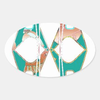 Southwestern Style Oval Sticker