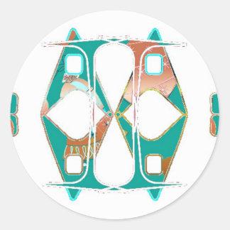 Southwestern Style Round Sticker