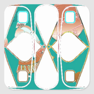 Southwestern Style Square Sticker
