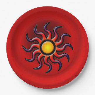 SOUTHWESTERN SUN 9 INCH PAPER PLATE