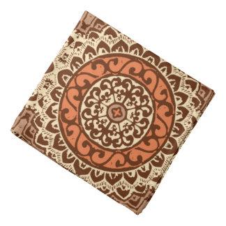 Southwestern Sun Mandala Batik, Rust & Brown Bandana