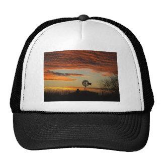 Southwestern sunset mesh hats