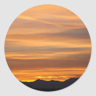 southwestern sunset round sticker