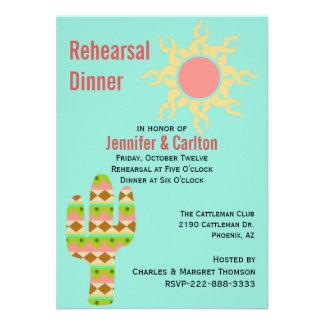 Southwestern Theme Wedding Rehearsal Dinner Invitation