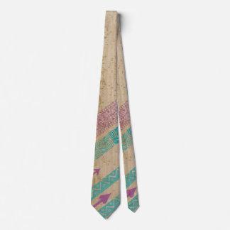 Southwestern Tribal Diagonal Stripe Arrow Tie