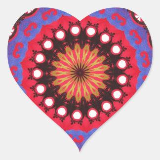 Southwestern Tribal Geometric Western Design Heart Sticker