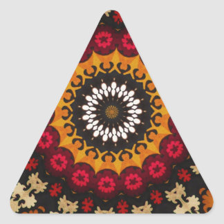 Southwestern Tribal Geometric Western Design Triangle Sticker