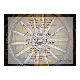 Southwestern Wagon Wheel Wedding Invitations