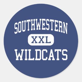 Southwestern Wildcats Elementary Hazel Green Round Sticker