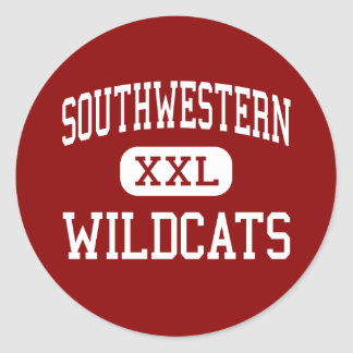 Southwestern - Wildcats - Middle - Lafayette Round Stickers