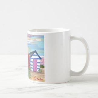 Southwold Beach Huts Basic White Mug