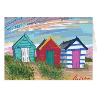 Southwold Beach Huts Card