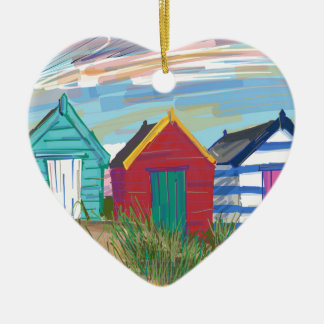 Southwold Beach Huts Christmas Ornament