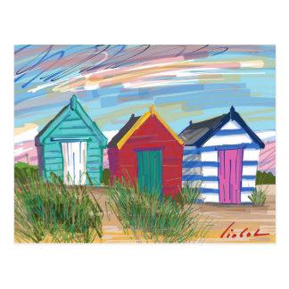 Southwold Beach Huts Postcard