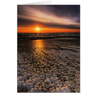 Southwold Beach Sunrise 7. Card