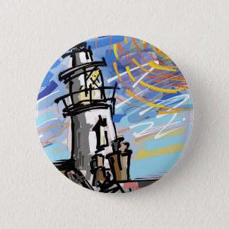 Southwold Lighthouse 6 Cm Round Badge