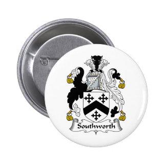 Southworth Family Crest 6 Cm Round Badge