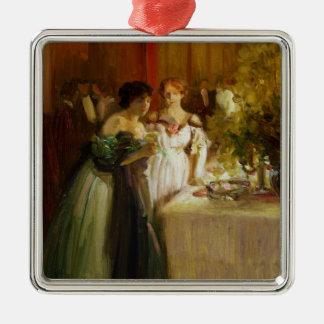 Souvenir d'un Soir Silver-Colored Square Decoration