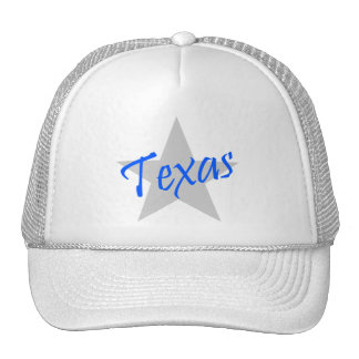 Souvenir Hat Texas Lone Star State White Blue Lgry