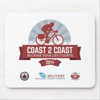 Souvenir Items for Marty's Coast2Coast Ride 2014 Mousepad