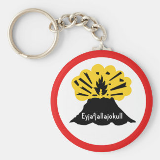 Souvenir of Eyjafjallajokull Your Volcano Keyring Basic Round Button Key Ring