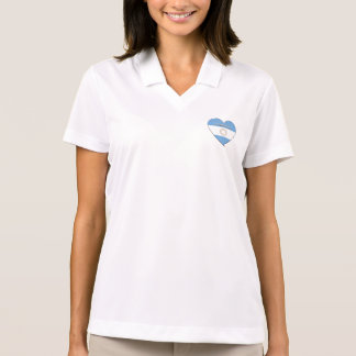 Souvenir of Heart National flag of ARGENTINA Polo T-shirts