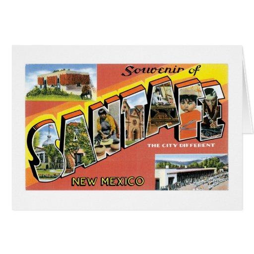 Souvenir of Santa Fe, New Mexico Greeting Card