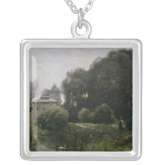 Souvenir of the Villa Borghese, 1855 Silver Plated Necklace