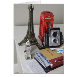 Souvenirs and camera greeting cards