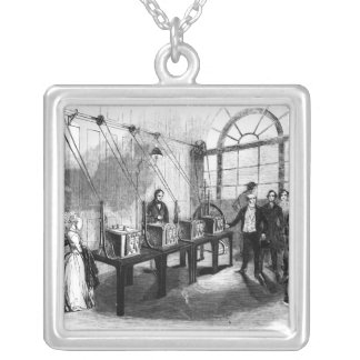 Sovereign Weighing Machine, Bank of England Silver Plated Necklace