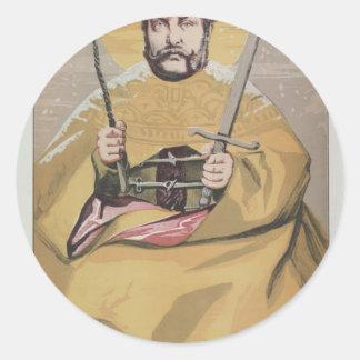 Sovereigns No.40 Caricature of Alexander II Round Sticker